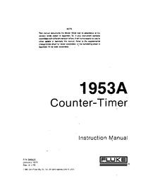 Service- und Bedienungsanleitung Fluke 1953A