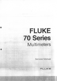 Manual de servicio Fluke 70 Series