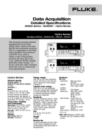 folha de dados Fluke 2620A