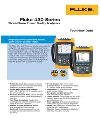 Datasheet Fluke 430 Series
