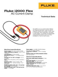 folha de dados Fluke i2000 Flex