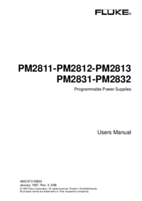 User Manual Fluke PM2831