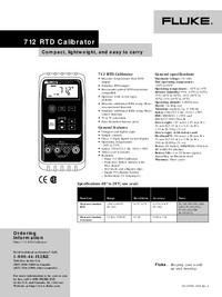 Dane techniczne Fluke 712