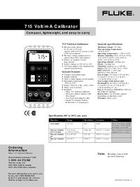 Dane techniczne Fluke 715