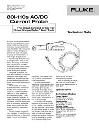 Datasheet Fluke 80i-110s