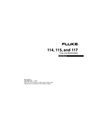 Manual del usuario Fluke 115