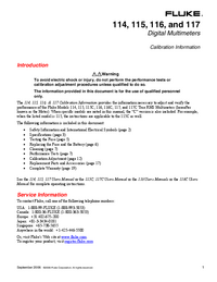 Manual de serviço Fluke 116