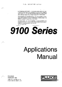 User Manual Fluke 9100 Series