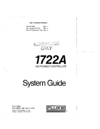 User Manual Fluke 1722A