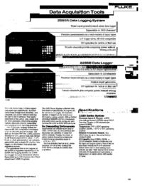 Gegevensblad Fluke 2286A