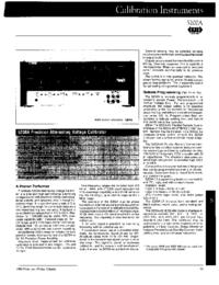 Datenblatt Fluke 5200A