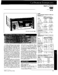 Datenblatt Fluke 5440B