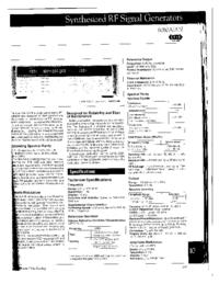 Dane techniczne Fluke 6080A