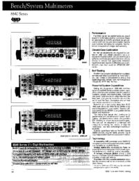 Datasheet Fluke 8840 Series