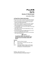 User Manual Fluke 70