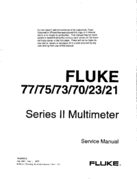 Manual de servicio Fluke 75