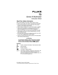 Manual del usuario Fluke 73 Series II