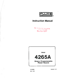 Servicio y Manual del usuario Fluke 4265A