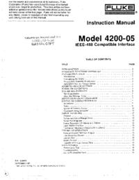 Обслуживание и Руководство пользователя Fluke 4200-05