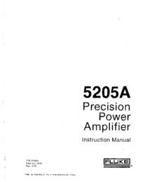 Serviço e Manual do Usuário Fluke 5205A