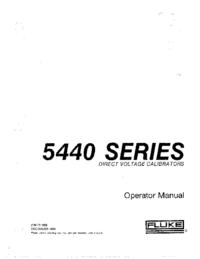 Instrukcja obsługi Fluke 5440 SERIES