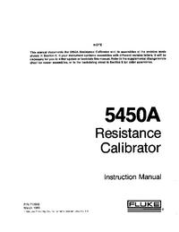Servizio e manuale utente Fluke 5450A