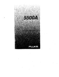 Instrukcja obsługi Fluke 5500A