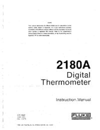 Servicio y Manual del usuario Fluke 2180A
