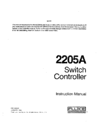 Service and User Manual Fluke 2205A