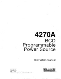Service and User Manual Fluke 4270A