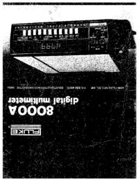 Servicio y Manual del usuario Fluke 8000A