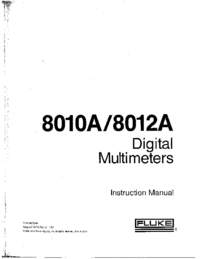 Service and User Manual Fluke 8012A