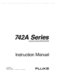 User Manual Fluke 742A Series