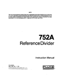 Service and User Manual Fluke 752A