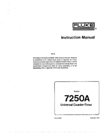 Service and User Manual Fluke 7250A