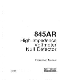 Instrukcja obsługi Fluke 845AR