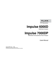 Manuel de l'utilisateur FlukeBio Impulse 7000DP