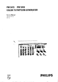 Serviceanleitung FlukePhilips PM 5415