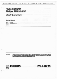 Manual de servicio FlukePhilips Philips PM93