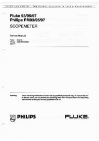 Manuale di servizio FlukePhilips Fluke 93