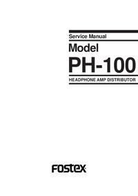 Manual de servicio Fostex PH-100