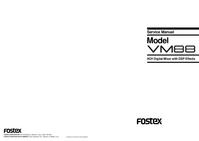 Manual de serviço Fostex VM88
