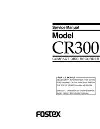 Manual de servicio Fostex CR300