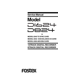 Service Manual Fostex 5042
