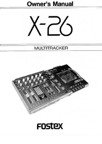 Manuel de l'utilisateur Fostex X-26