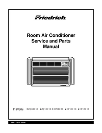Service Manual, Part List only Friedrich CP08C10