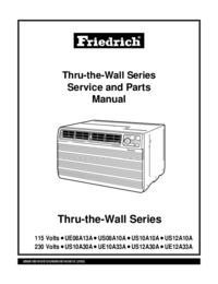 Manual de servicio Friedrich US10A10A