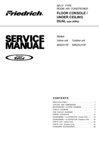 Service Manual Friedrich MS24Y3F