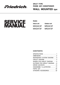 Service Manual Friedrich MW24Y3F