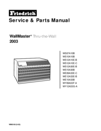 Manual de servicio Friedrich WS15A30B